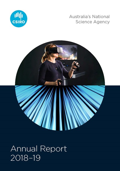 Image of the front cover of CSIRO's annual report 2018-19