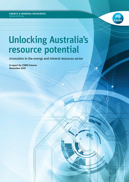 Unlocking Australia's Resource Potential report cover.
