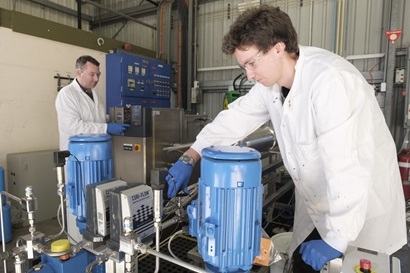 A FloWorks industrial flow chemistry system in action