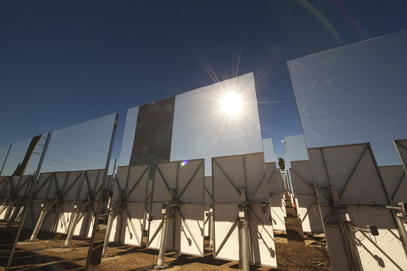 Image of a solar thermal research facility