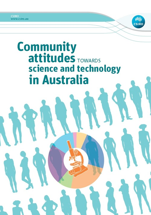 Front cover of the Community attitudes towards science and technology in Australia report.