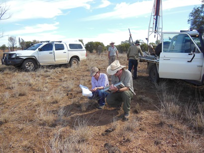 Soil sampling provides important data for the Grid and many parts of Australia have little data available.