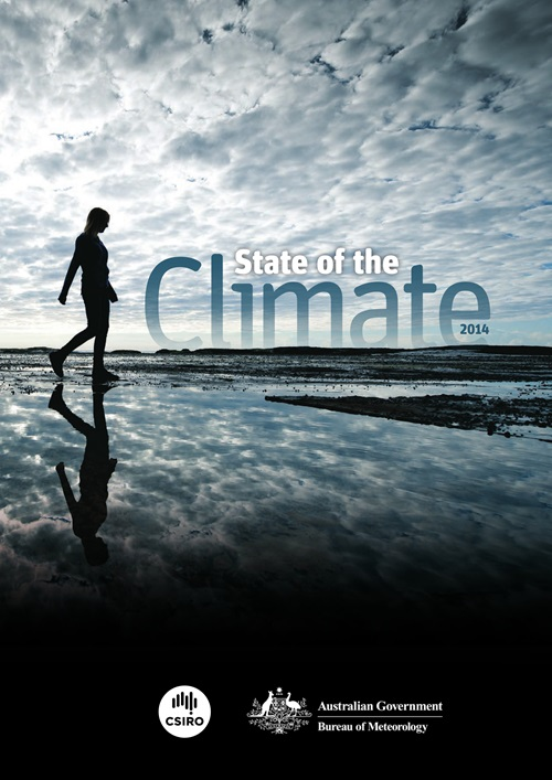 Cover of the State of the Climate 2014 report