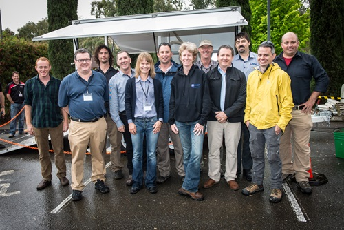 Lab-at-Rig® development team and researchers standing togehter for a group photo.