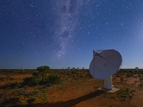 The Australian Square Kilometre Array Pathfinder (ASKAP) in Western Australia.