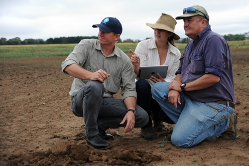 Farmer and CSIRO researchers