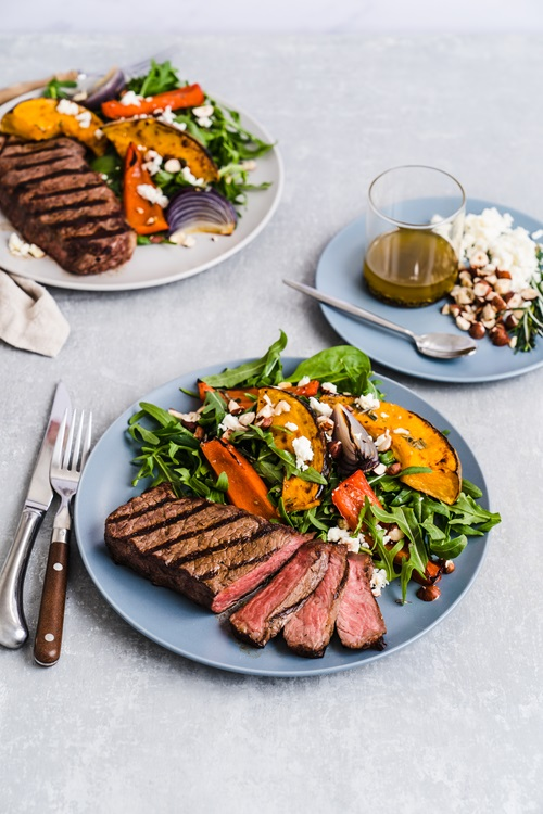 Portier steak and vegetables