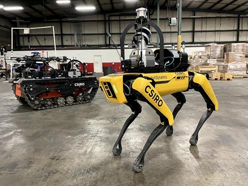Three of team CSIRO's Data61's robots