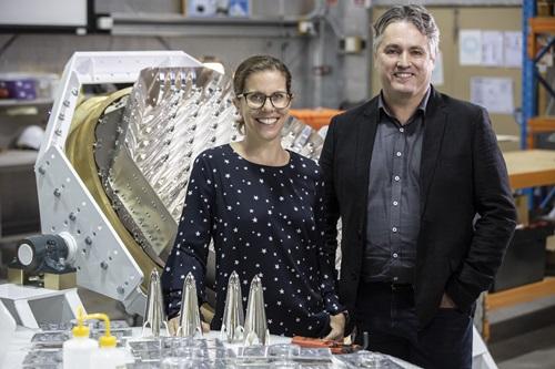 Dr Ilana Feain and Mr Phil Ridley.  - Quasar DrIlanaFeain MrPhilRidley - Space startup Quasar takes off with CSIRO tech