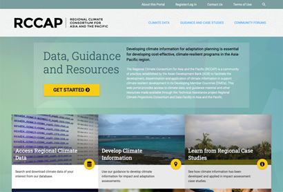 A screenshot of the RCAP website portal.
