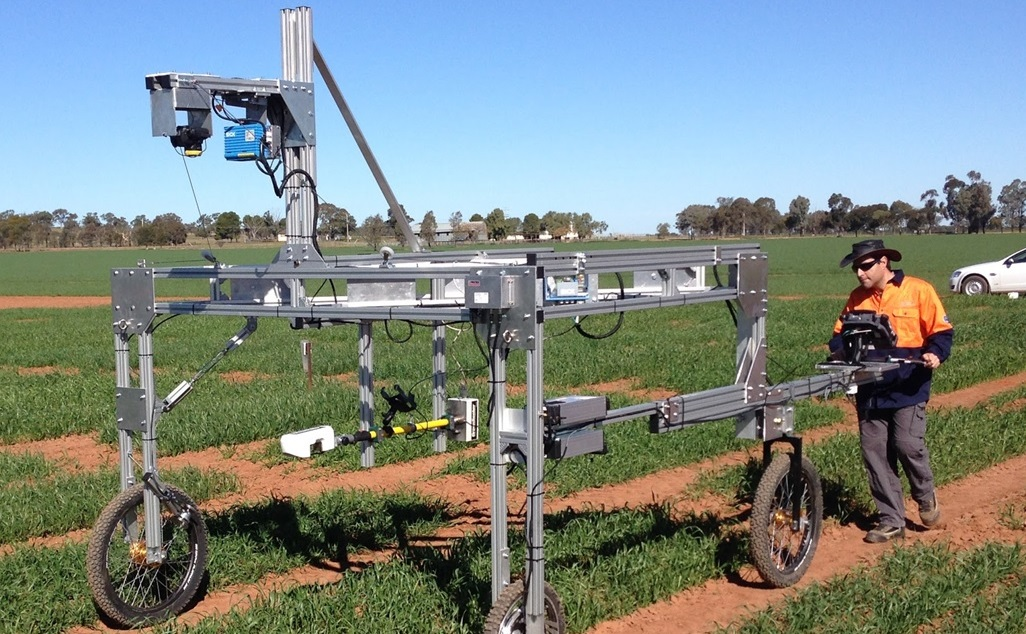 The Phenomobile Lite is a manually operated field phenotyping platform.