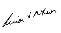 Signature of Simon McKeon AO, Chairman of the CSIRO Board