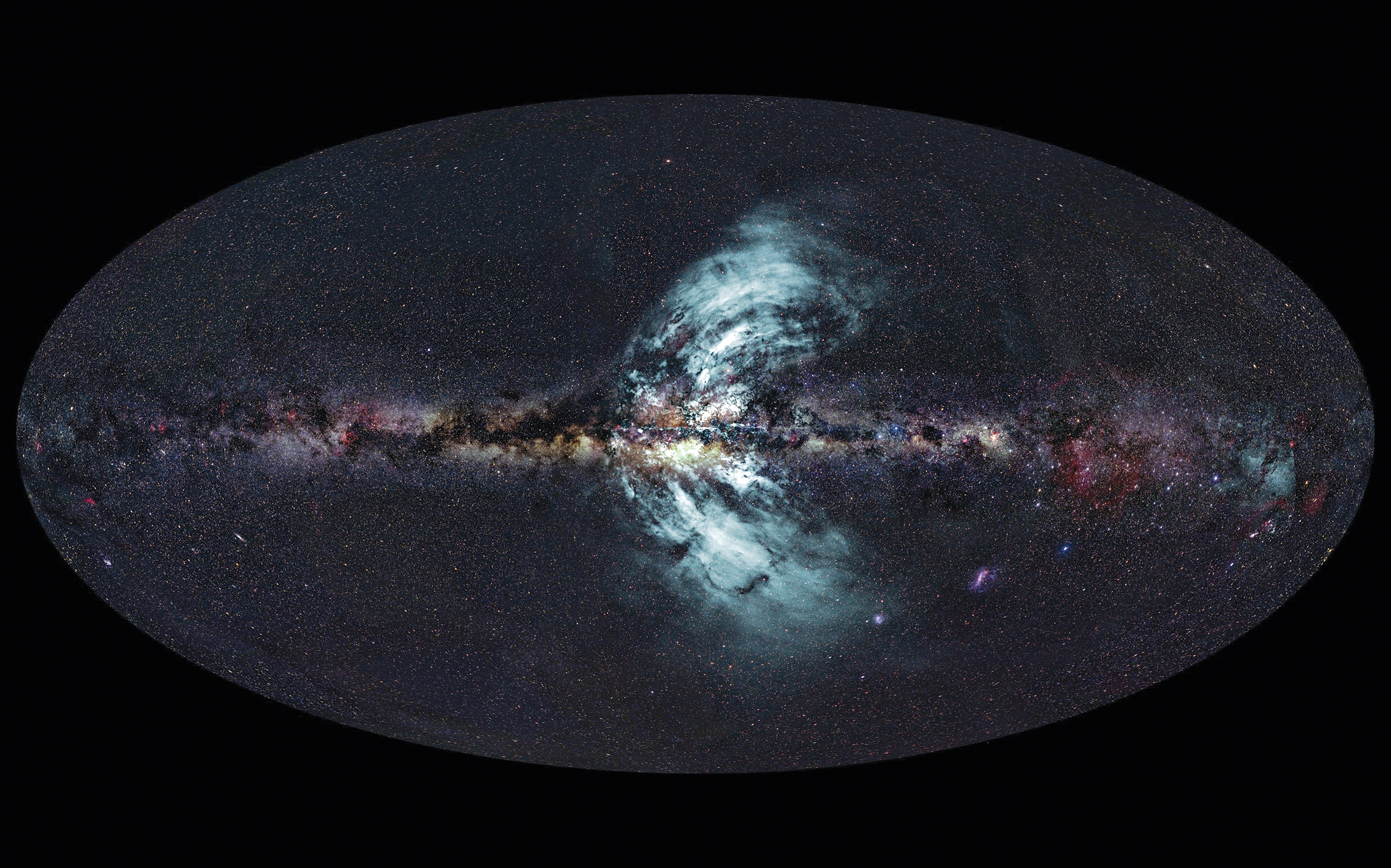 Milky Way composite showing the Galactic Centre.