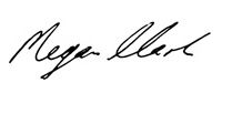 Signature of Dr Megan Clark, Trustee SIEF