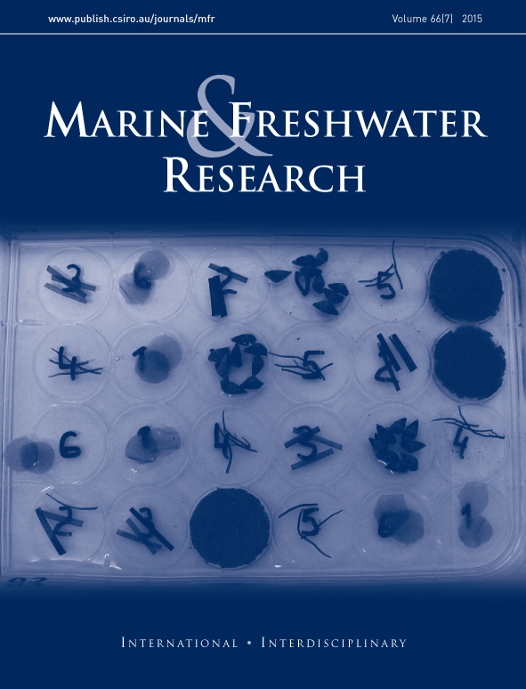 Front cover of the Marine and Freshwater journal.