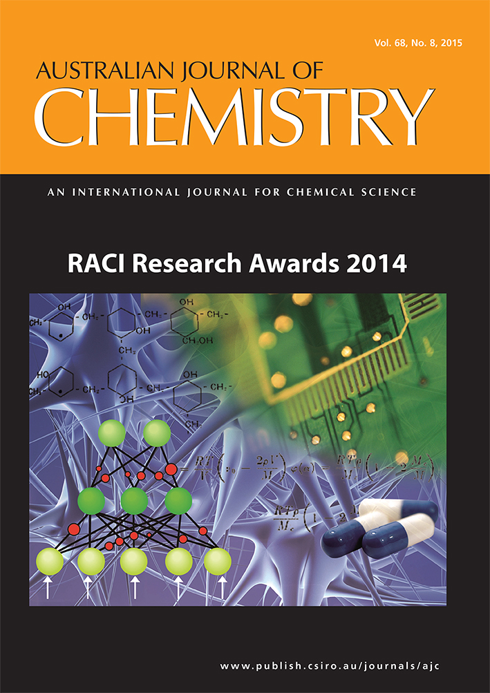 Front cover of the Australian Journal of Chemistry.