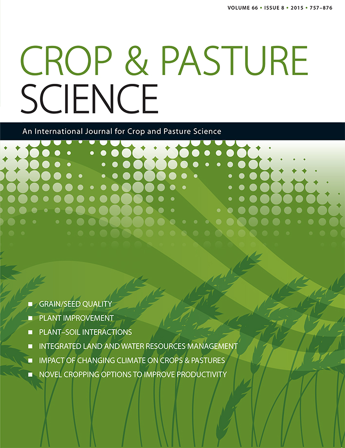 Front cover of the Crop and Pasture Science journal.