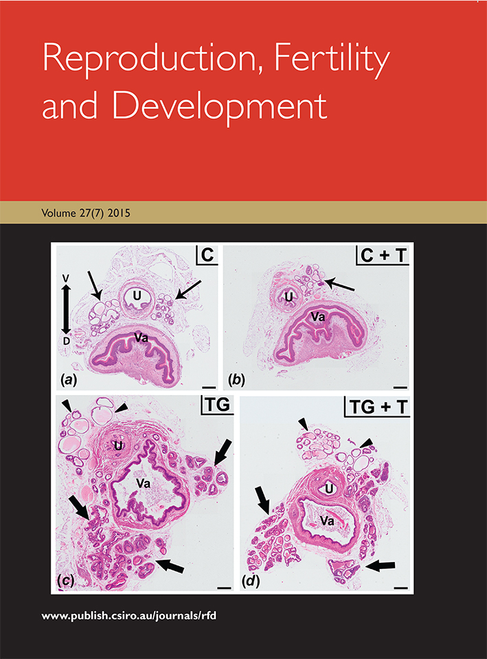 Front cover of the Reproduction, Fertility and Development journal.