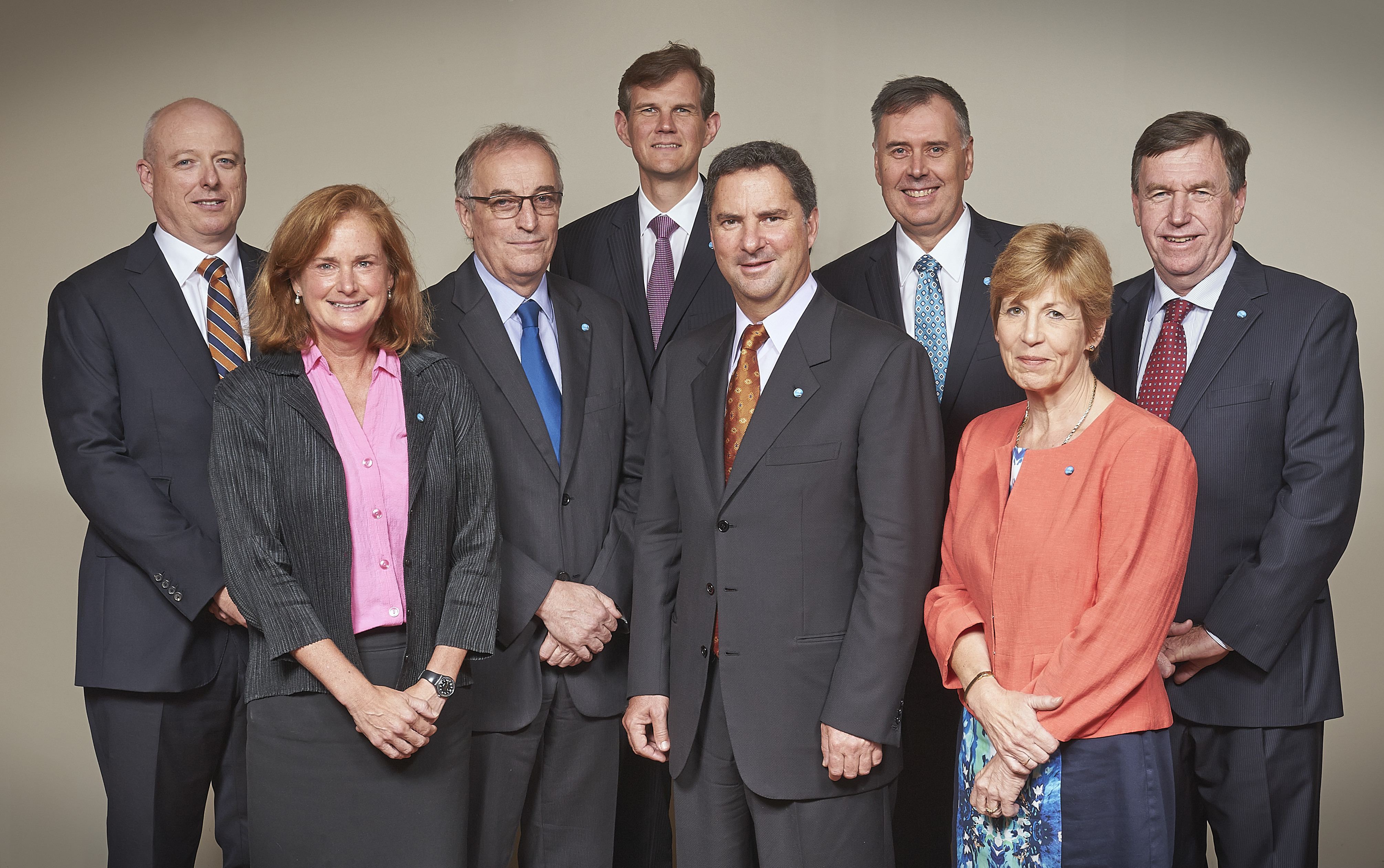 Members of the Executive Team from L to R: Dr Andrew Johnson, Dr Anita Hill, Dr David Williams, Dr Alex Wonhas, Dr Larry Marshall, Mr Craig Roy, Ms Hazel Bennett, Dr Brian Keating.