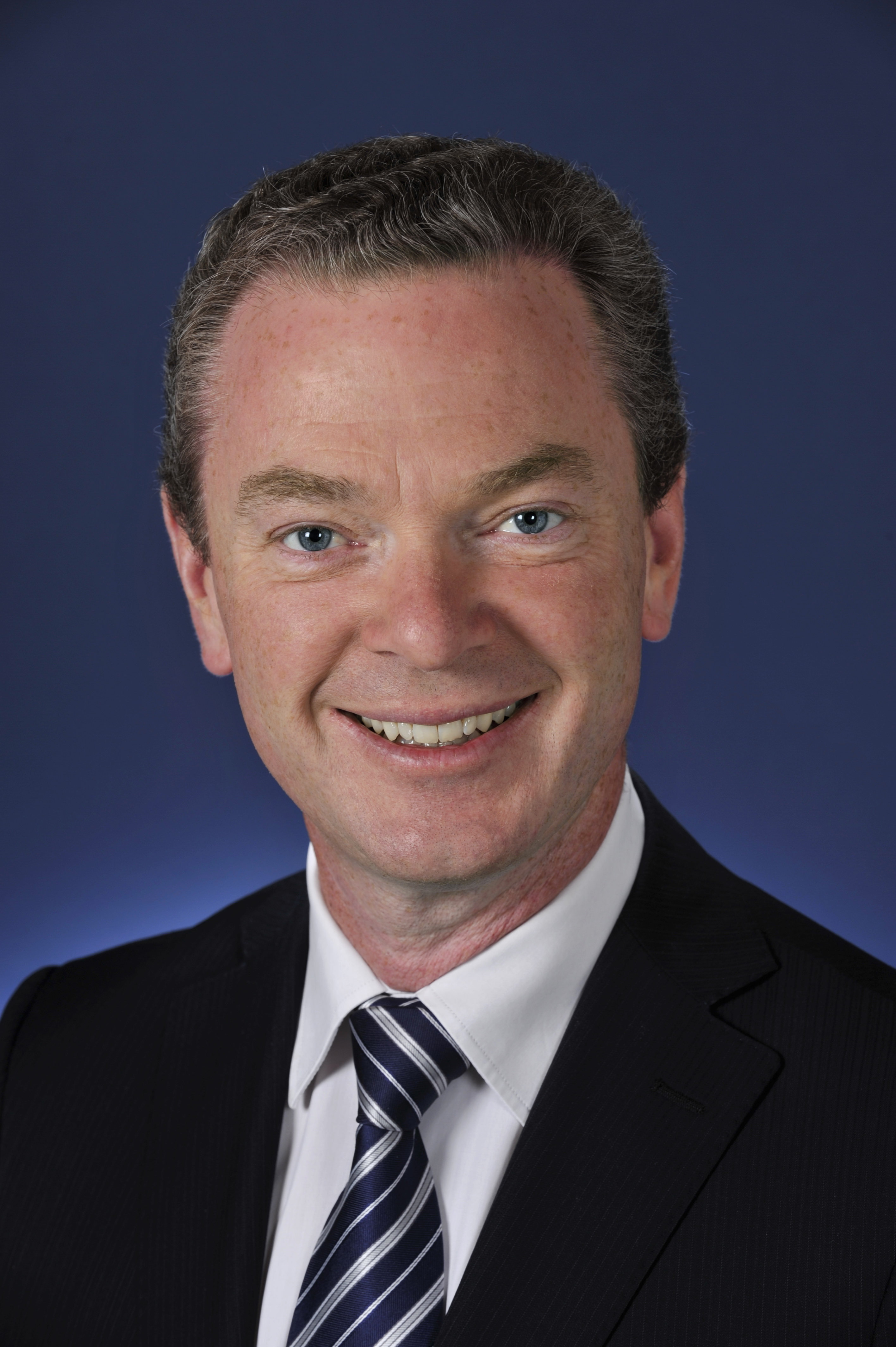Hon Christopher Pyne MP (SA Sturt Lib) Official Portrait. 10 February 2014. Parliament House, Canberra