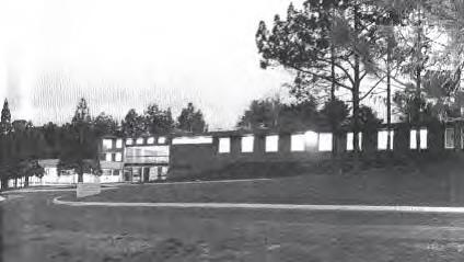 black and white image of the former forestry research building c1967