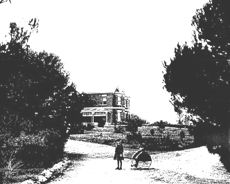 View of Gungahlin homestead from carriage loop, c1890.