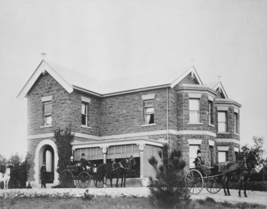 black and white Gungahlin homestead c1890