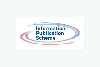 IPS logo, the text 'Information Publication Scheme' surrounded by red and blue circles