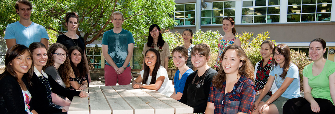 2013-2014 summer students at Black Mountain Laboratories in Canberra