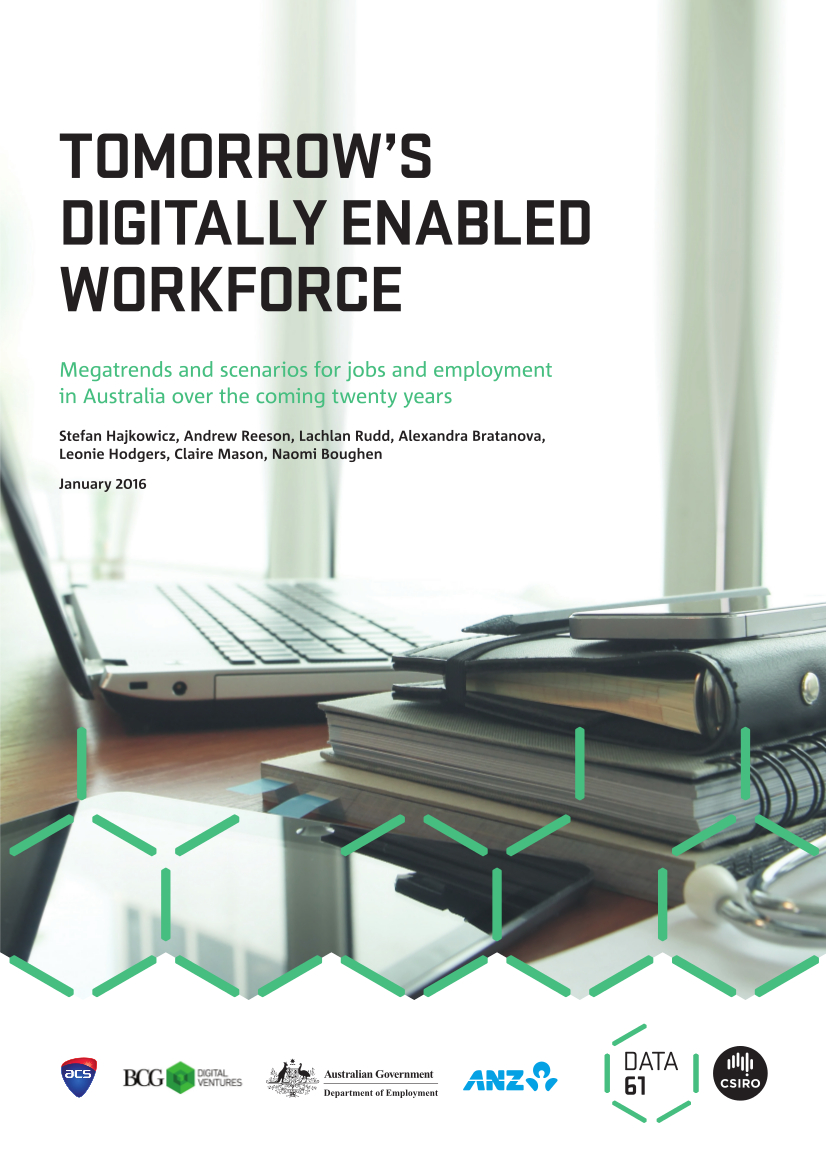 Report cover image with report title in black and a image of a laptop on a desk next to a stack of books.