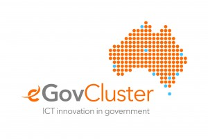 Logo for the e-Gov Cluster - ICT innovation in government.
