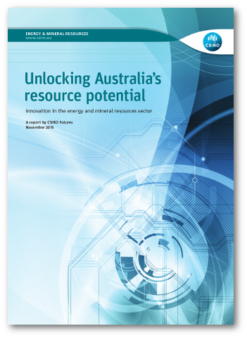 Cover image of the report 'Unlocking Australia's resource potential'
