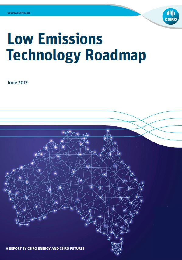 Cover of The Low Emissions Technology Roadmap report.