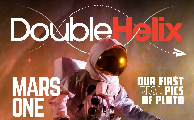 Front cover of the new Double Helix magazine