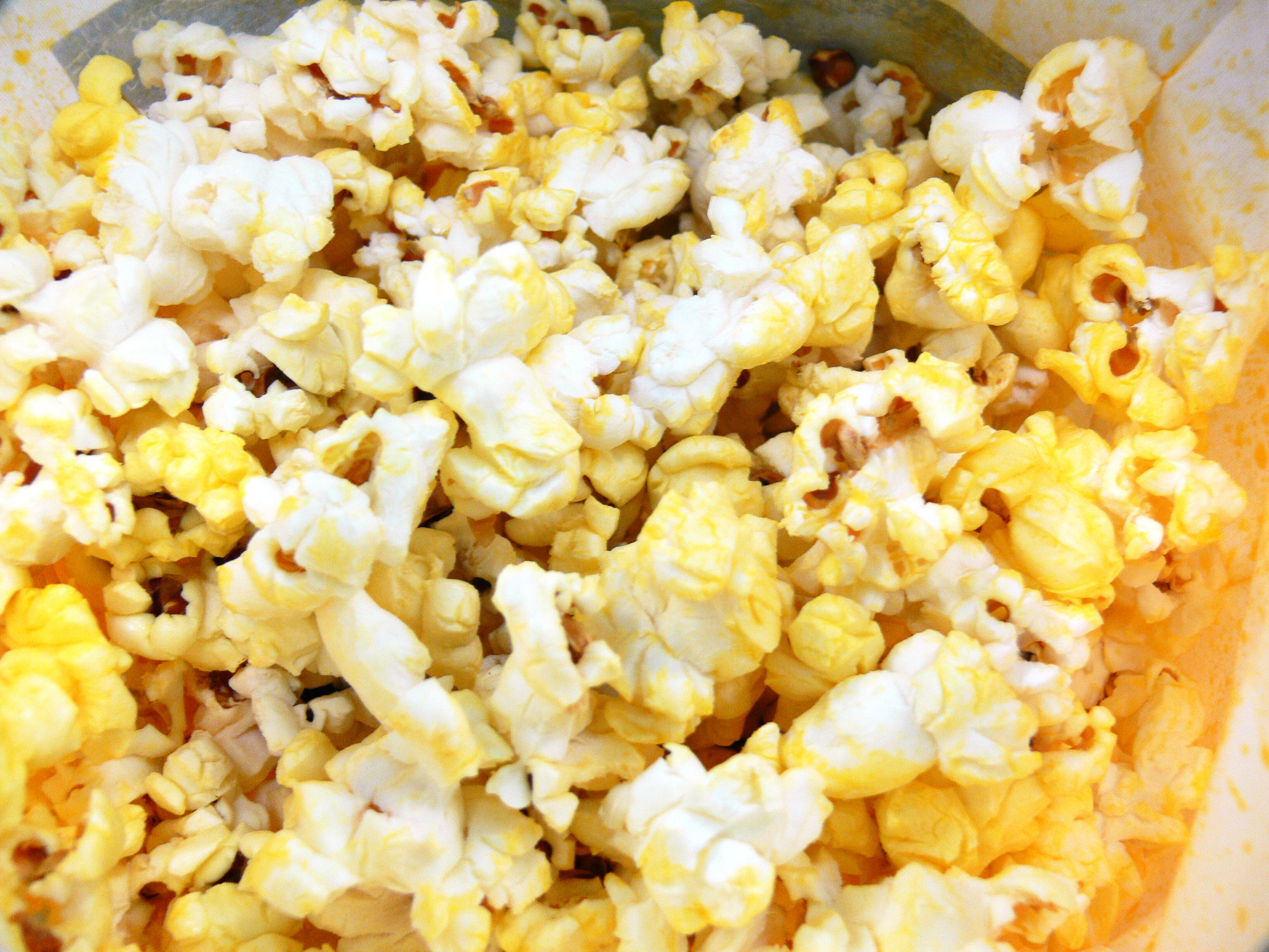 Bowl of butter popcorn