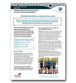 Download the ASSETS 2018-19 summer schools factsheet now [pdf · 1mb].