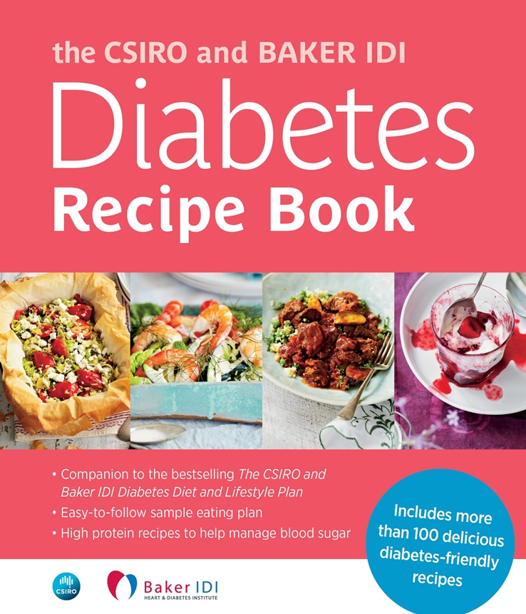 A photo of the cover of the CSIRO and Baker IDI Diabetes Recipe Book