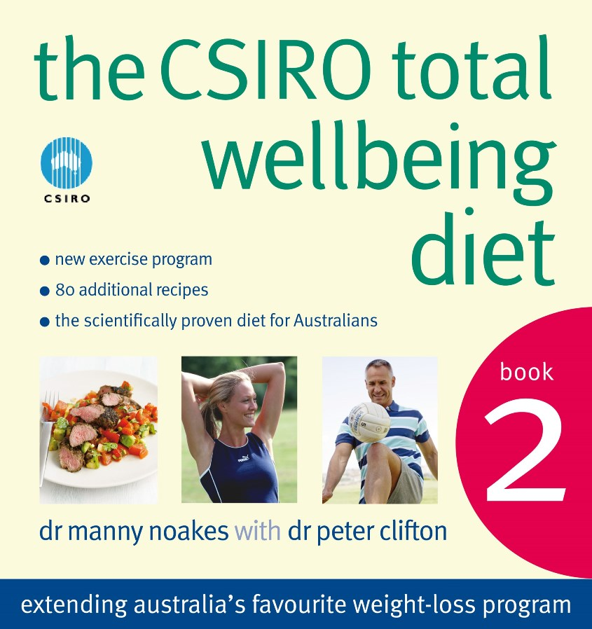 A photo of the cover of the CSIRO Total Wellbeing Diet book two