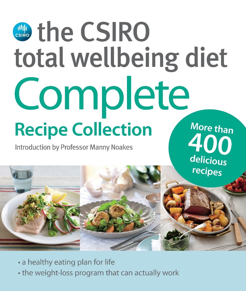 A photo of the book cover for the CSIRO Total Wellbeing Diet Complete Recipe Collection