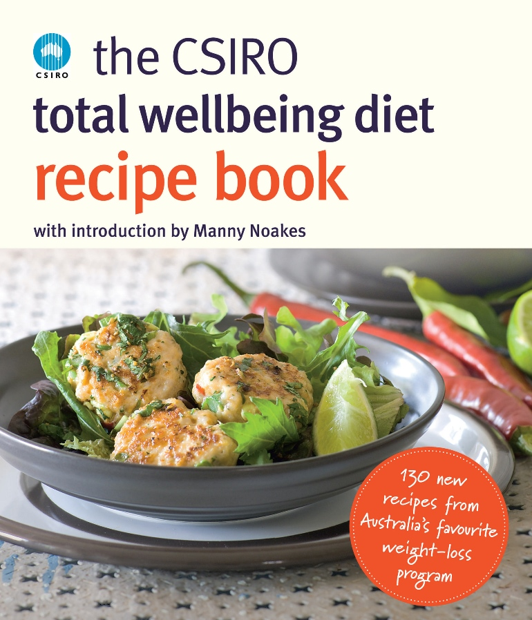 A photo of the cover of the CSIRO Total Wellbeing Diet Recipe Book