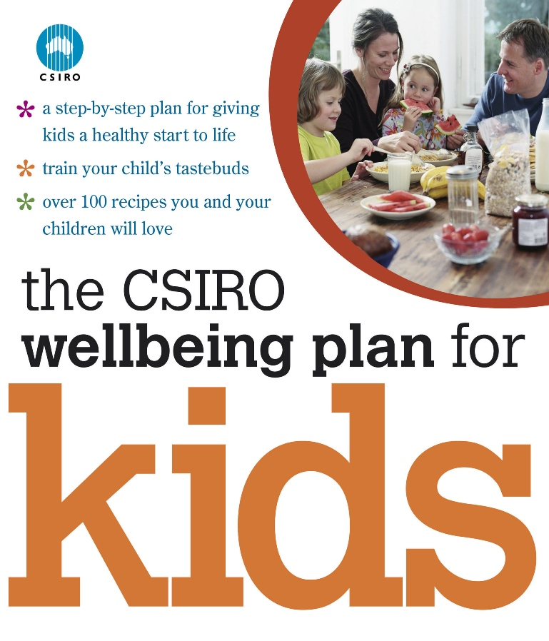 A photo of the cover of the CSIRO Wellbeing Plan for Kids book