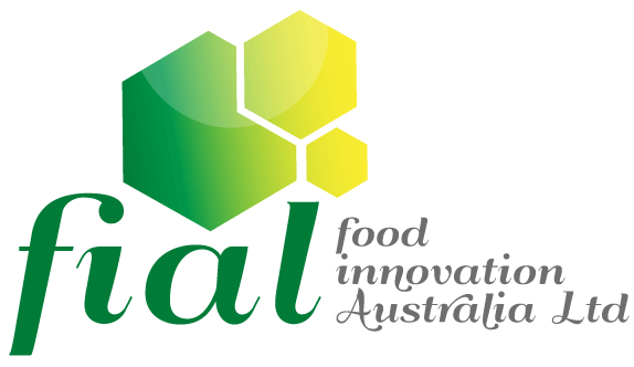 Logo of Food Innovation Australia Ltd (FIAL) made up of three polygonal shapes with the acronym 'fial' and organisation name underneath.