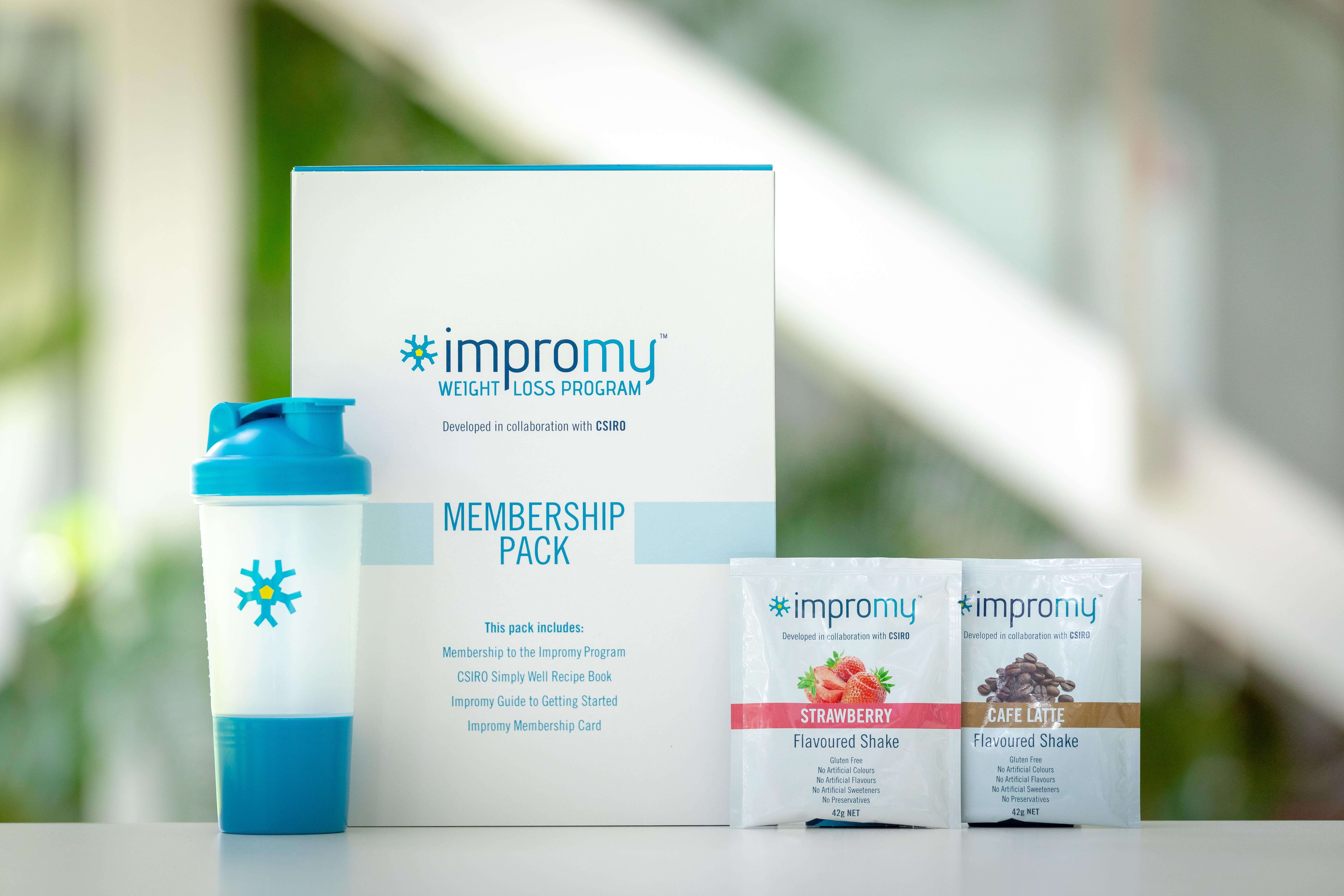 An image of  Impromy™ meal replacement products.