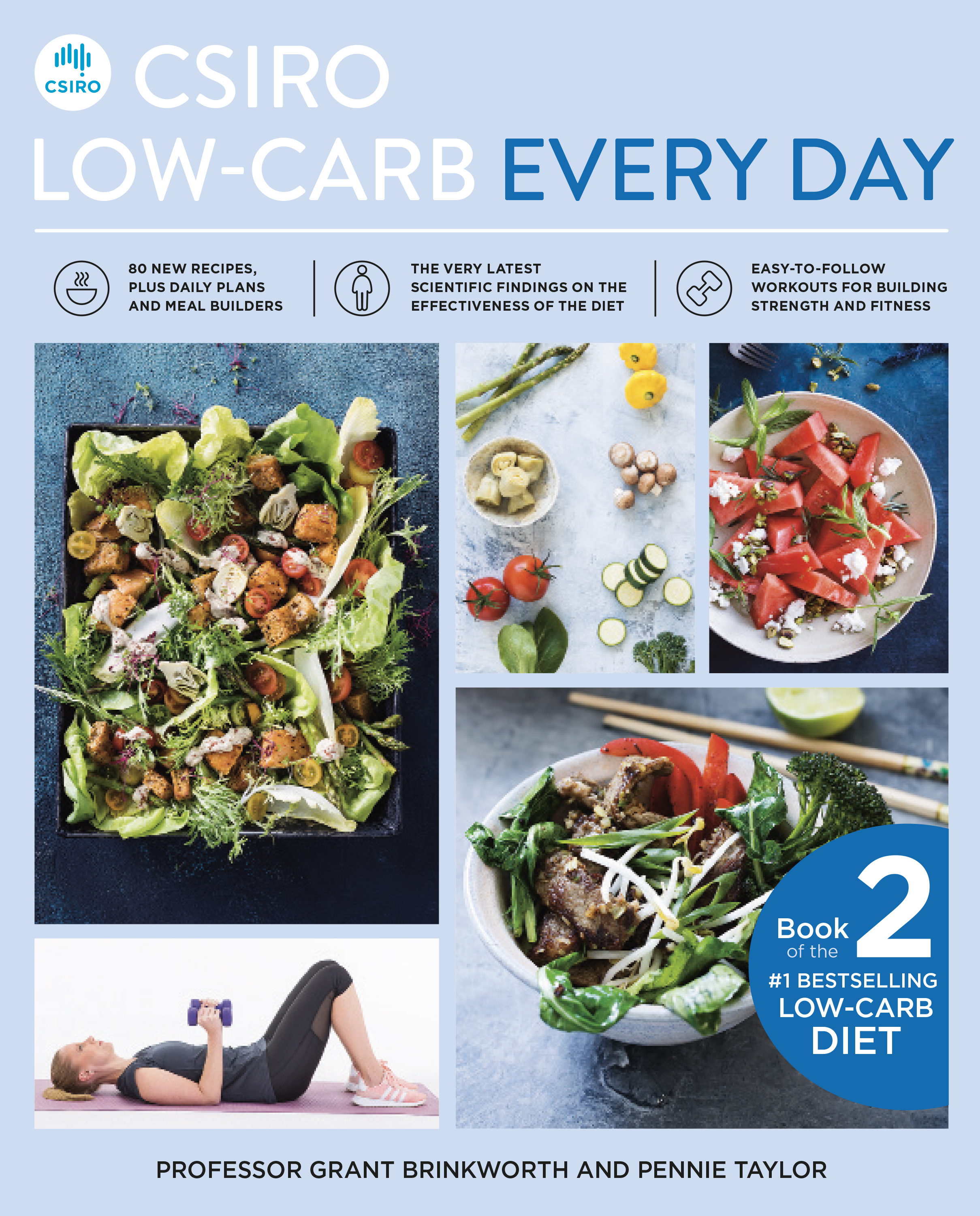 Front cover of CSIRO Low Carb Everyday book