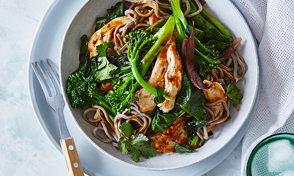 A bowl of Chicken Soba Noodles from the CSIRO Protein Plus Nutrition and Exercise Plan