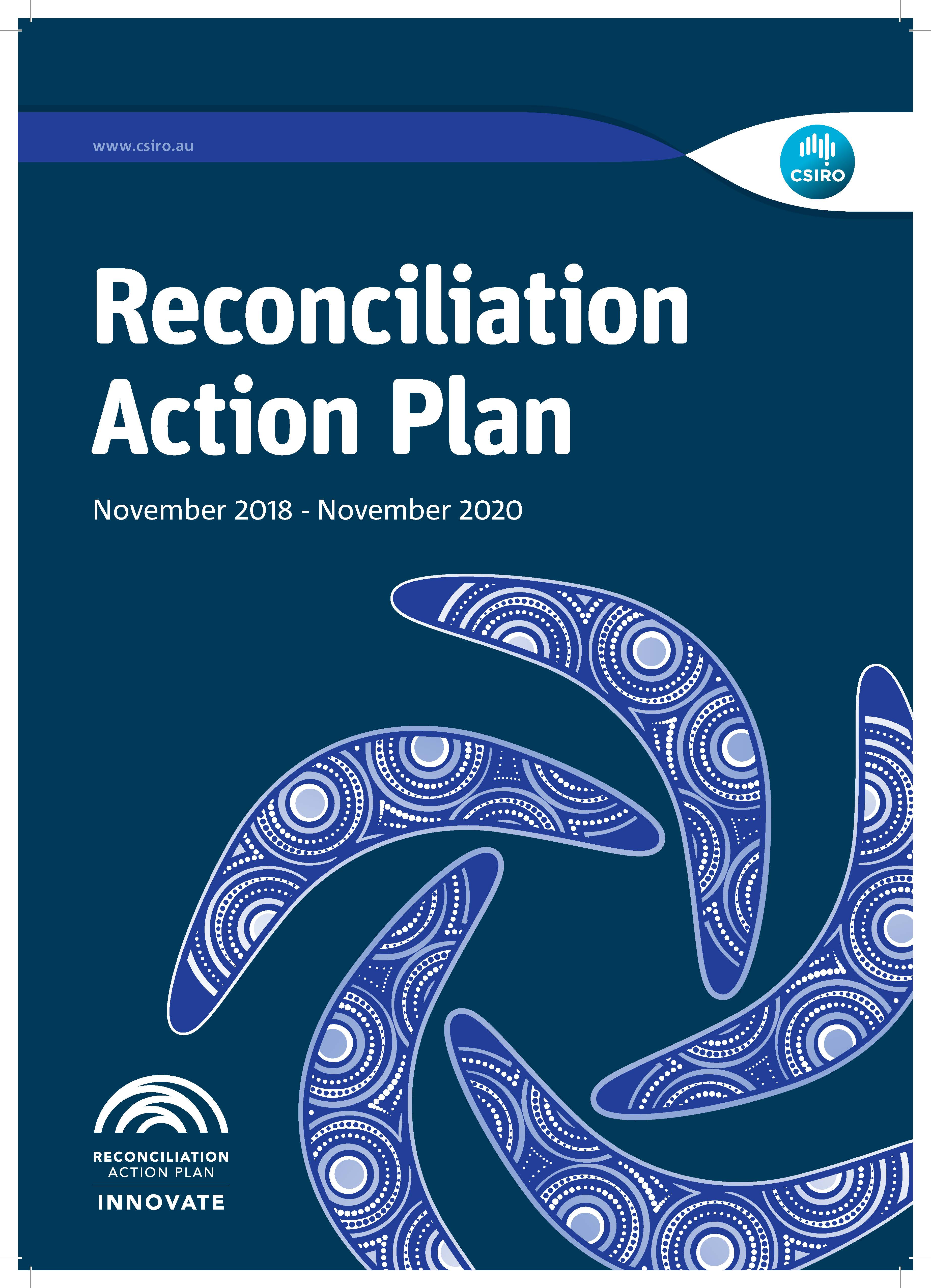 Image of the front cover of CSIRO's Reconciliation Action Plan 2018-2020