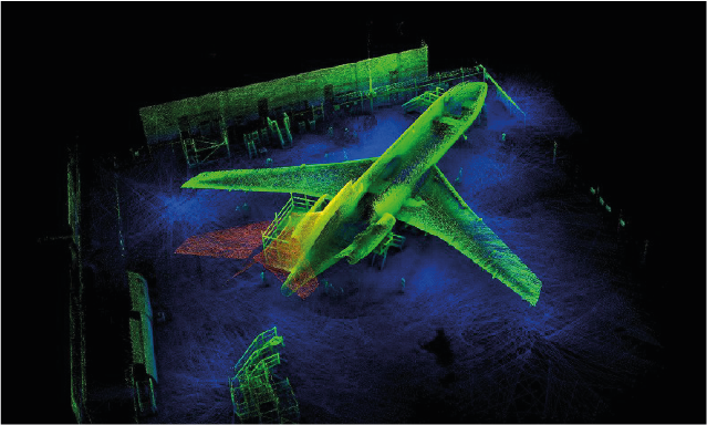 Laser Mapping of a Plane