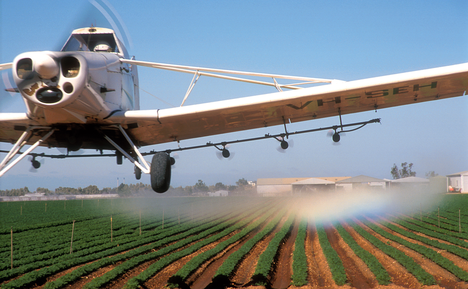 Aerial spraying of herbicides