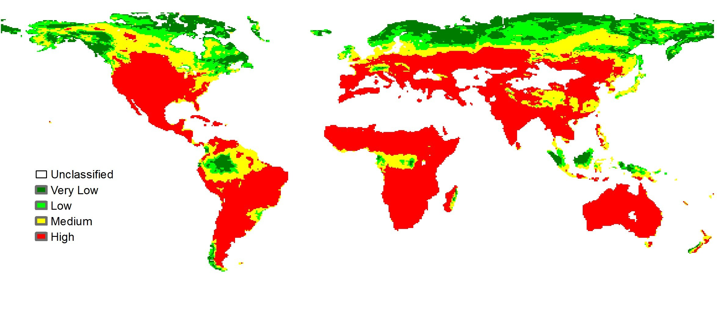 Graphic of the world showing fire risk