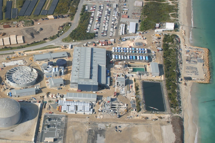Overhead shot of the Desalination plant at Kwinana